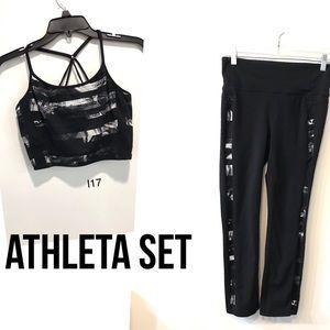 Athleta Sports Bra and Leggings Set(I17)